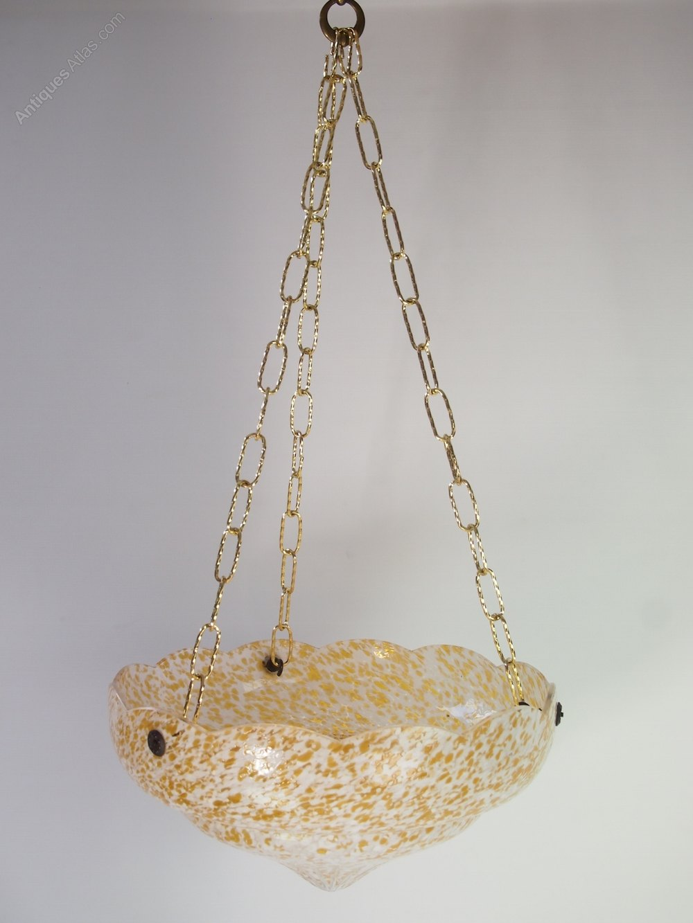 antiques atlas art deco glass ceiling light shade or. Black Bedroom Furniture Sets. Home Design Ideas