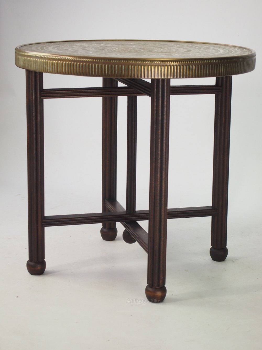 Berber Benares Brass Tray Top Coffee Table Antiques Atlas