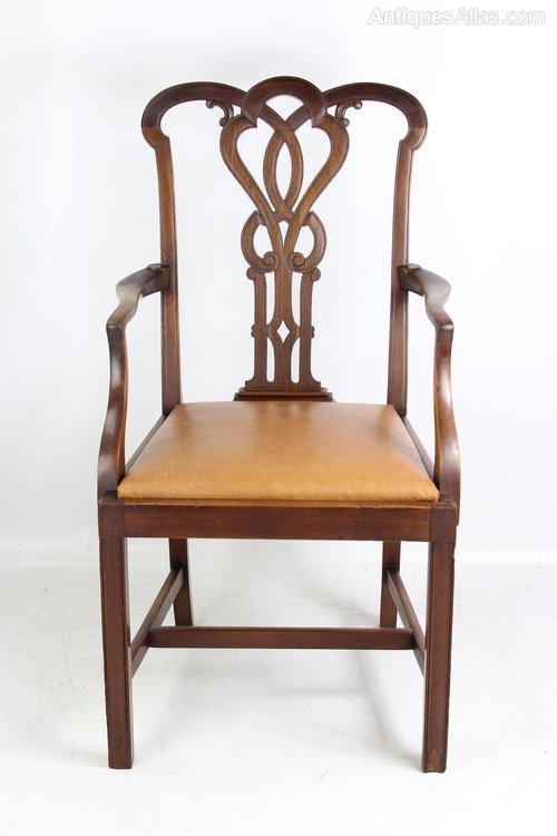 Swell Edwardian Mahogany Open Armchair Or Desk Chair Antiques Atlas Ncnpc Chair Design For Home Ncnpcorg