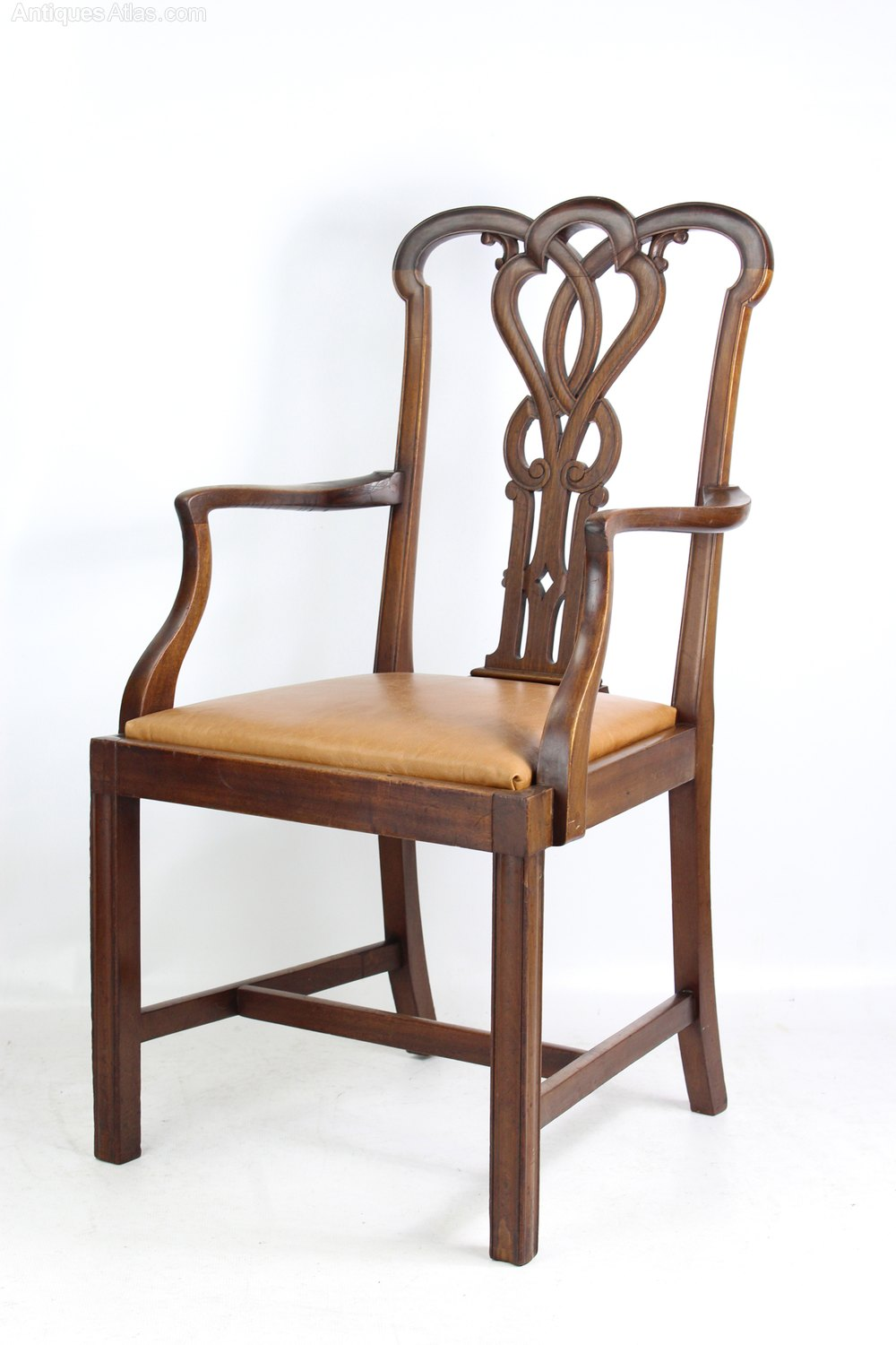Surprising Edwardian Mahogany Open Armchair Or Desk Chair Antiques Atlas Ncnpc Chair Design For Home Ncnpcorg