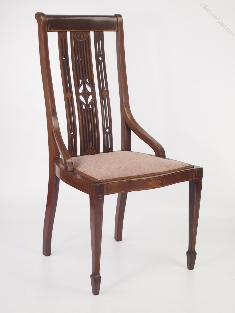 Chair Dressing Table ~ Edwardian mahogany inlaid dressing table chair