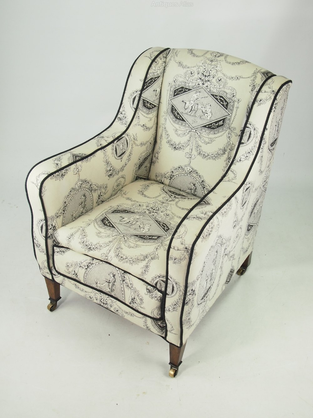 Edwardian Armchair In Laura Ashley Fabric - Antiques Atlas