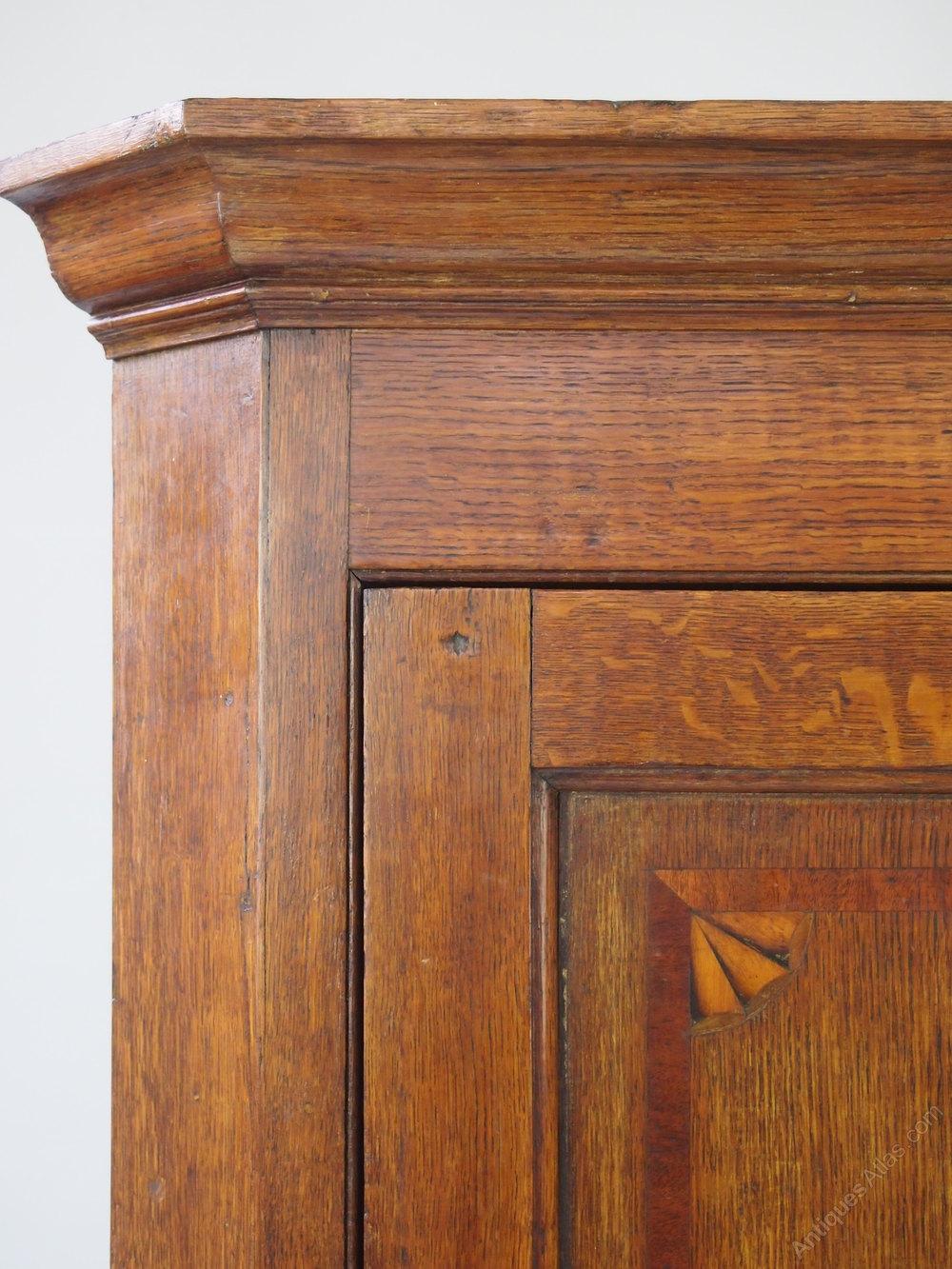 ... Antique Corner Cupboards Georgian Oak Corner Cupboard Hanging Wall  Cabinet %%alt5%% ... - Georgian Oak Corner Cupboard /Hanging Wall Cabinet - Antiques Atlas