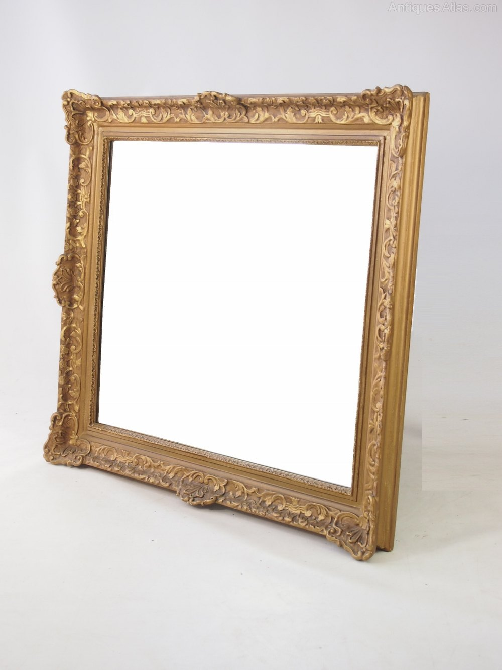 Antiques atlas large gilt framed wall mirror for Large framed mirrors for walls