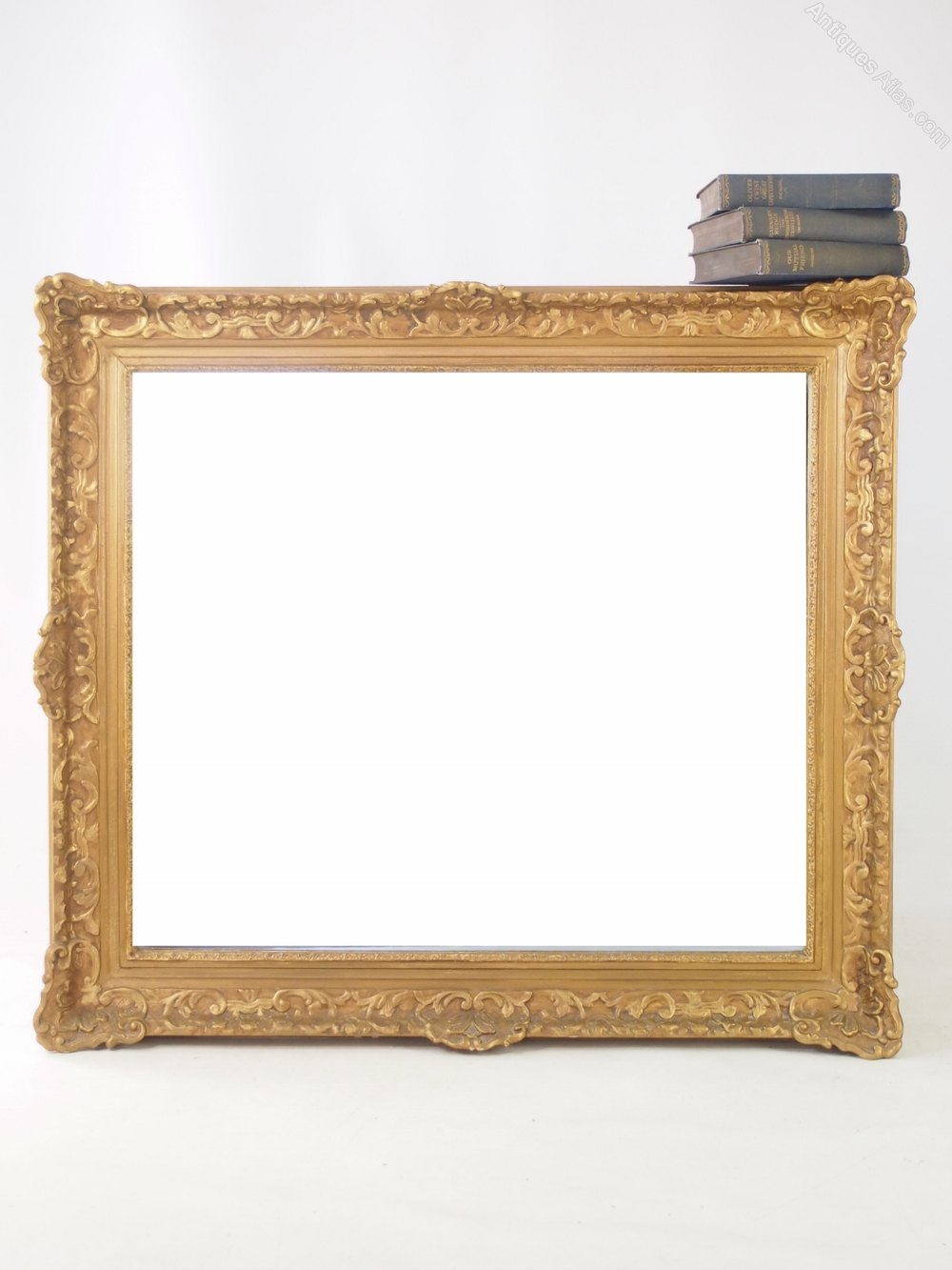 Antiques atlas large gilt framed wall mirror for Large framed mirrors