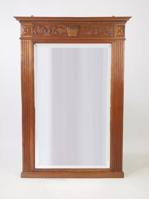 Large Oak Framed Mirror