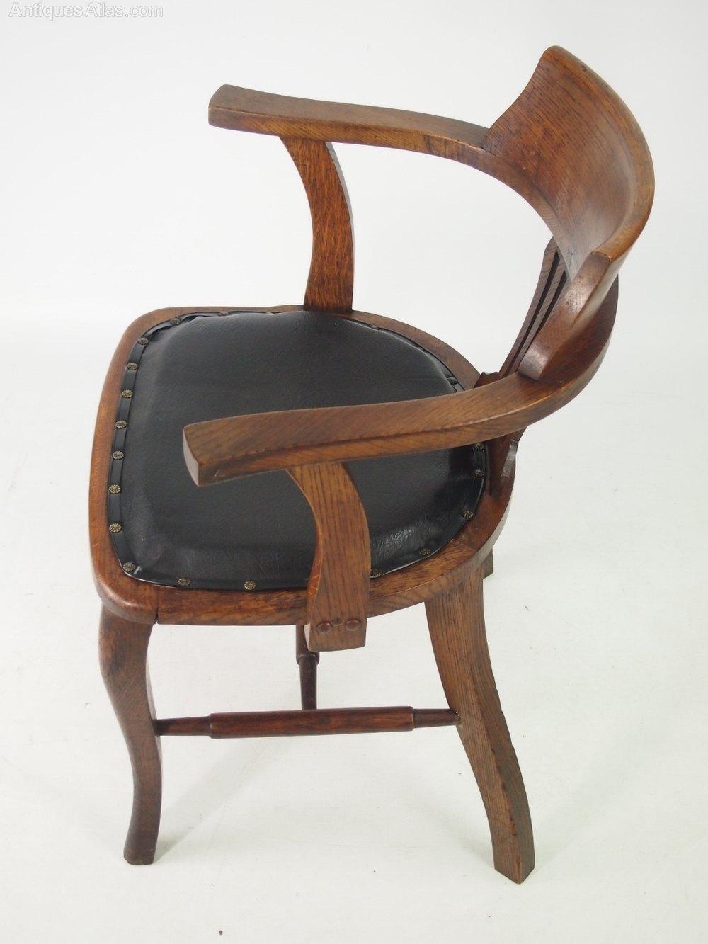 Oak Desk Chair Or Captains Antique Chairs
