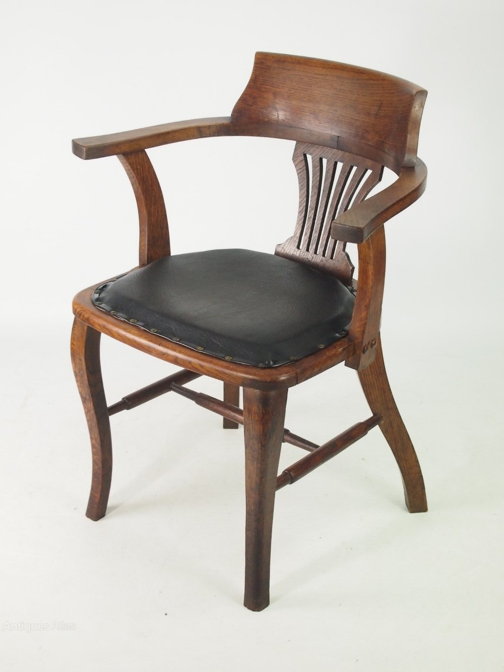 Oak Desk Chair Or Captains Chair ...