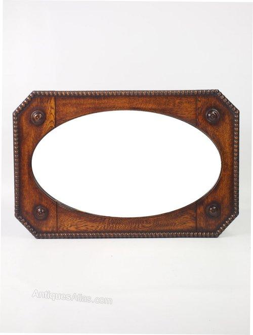 Antiques Atlas - Octagonal Oak Framed Mirror Or Overmantle