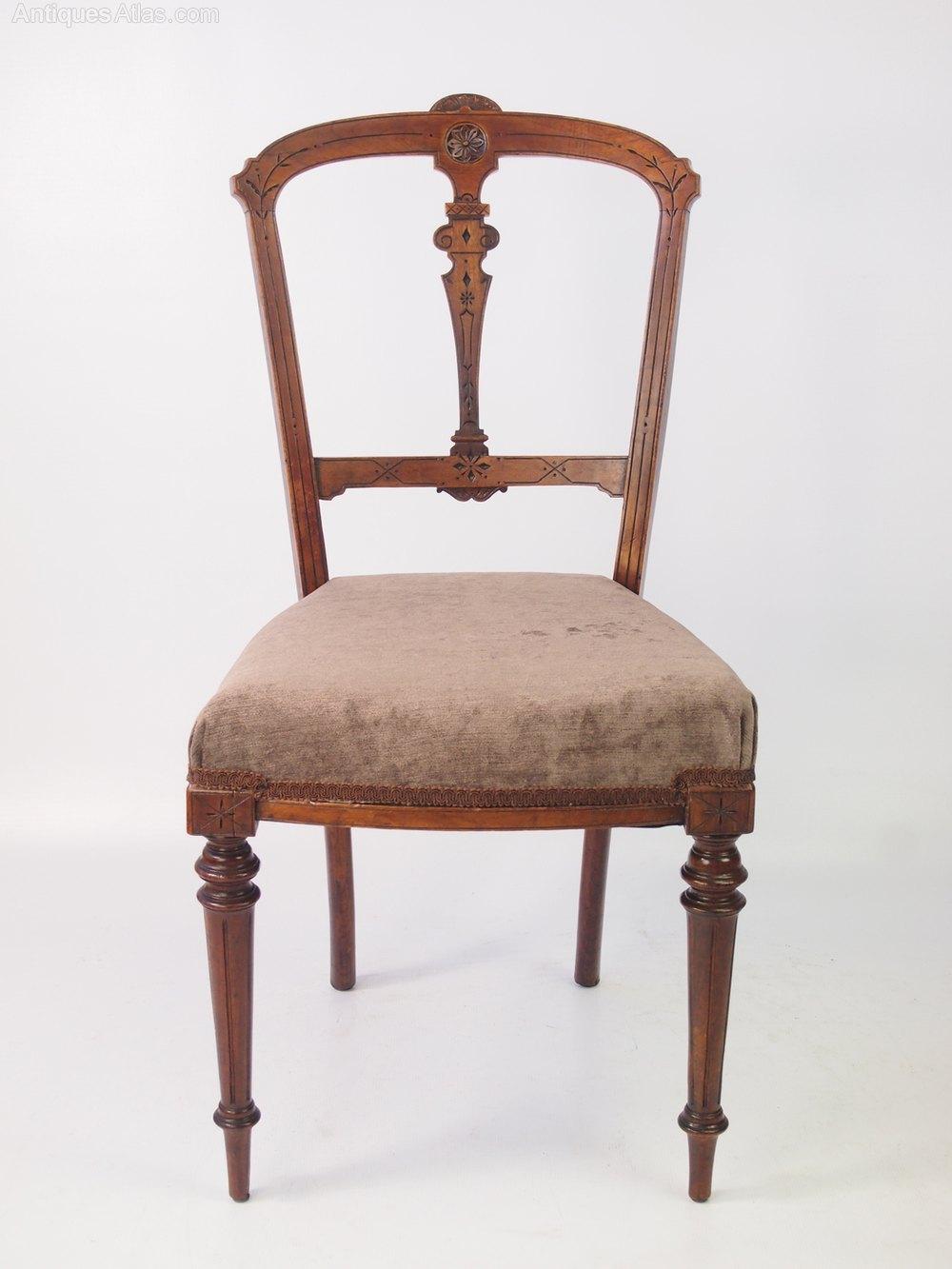 pair antique victorian walnut balloon back chairs antiques atlas