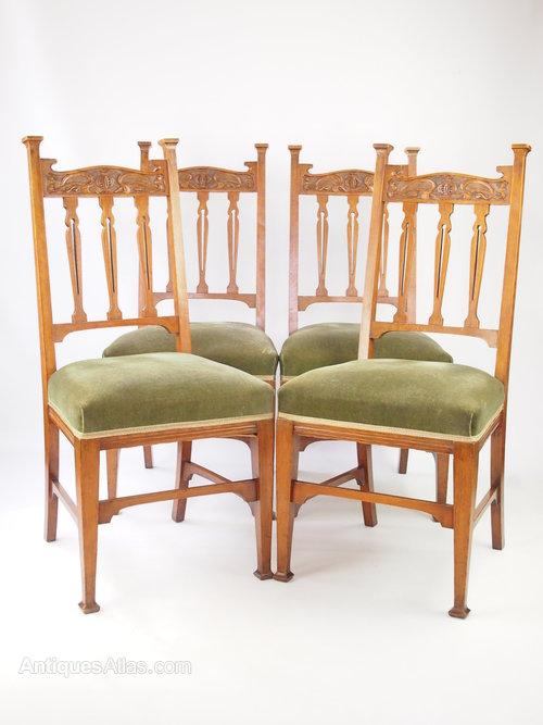 Edwardian Golden Oak Dining Chairs