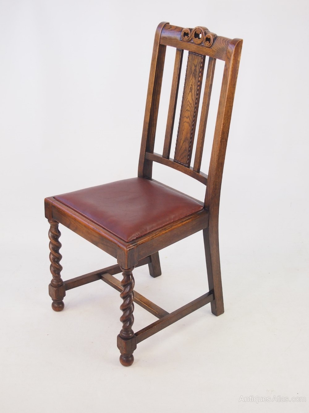 ... Chair Sets of 4 Antique Dining Chairs ... - Set 4 Vintage Oak Dining Chairs Circa 1920s - Antiques Atlas