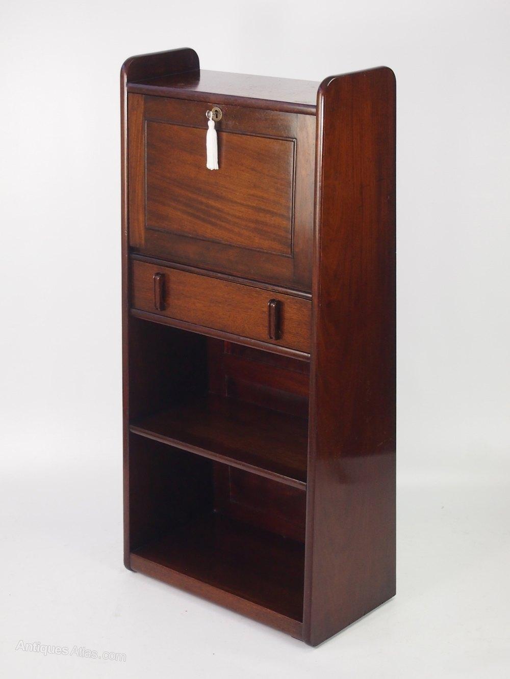 slim art deco mahogany bureau antiques atlas. Black Bedroom Furniture Sets. Home Design Ideas
