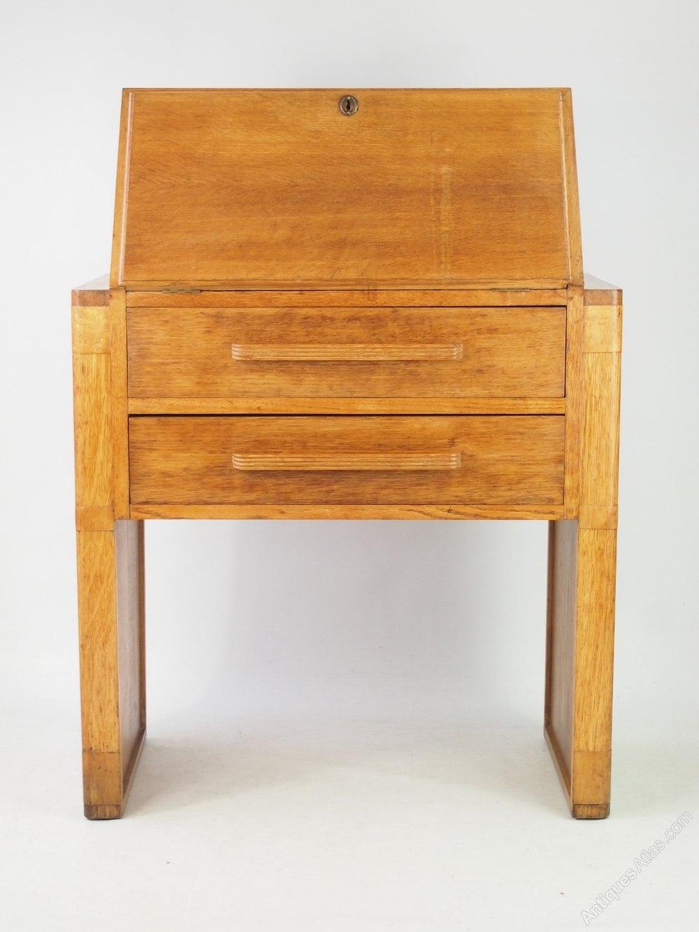 small art deco oak bureau antiques atlas. Black Bedroom Furniture Sets. Home Design Ideas