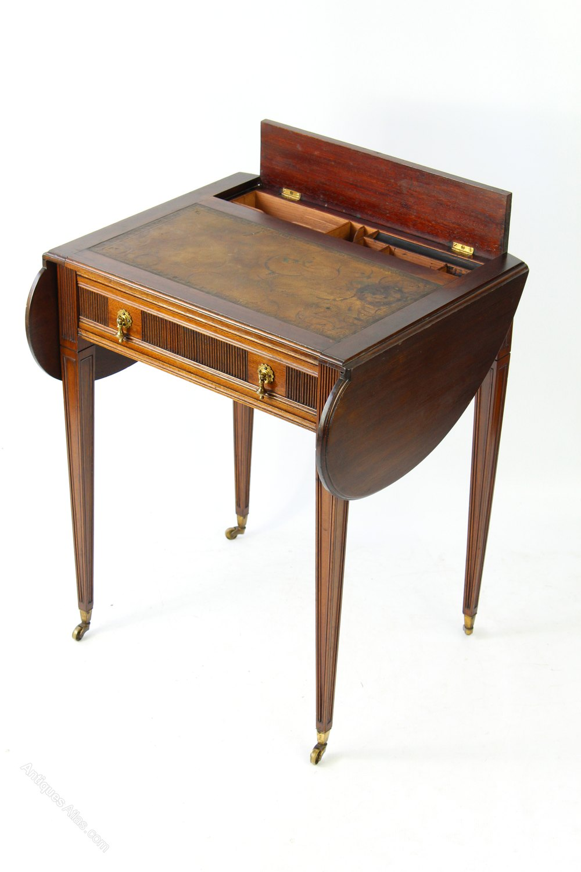 Small Edwardian Ladies Writing Desk Table Glasgow Antique Ladies Writing  Desks ... - Small Edwardian Ladies Writing Desk Table Glasgow - Antiques Atlas