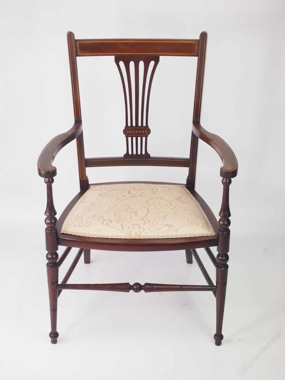 Small Edwardian Open Armchair Or Bedroom Chair