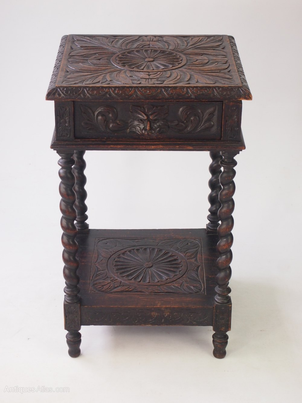 small victorian gothic revival oak side table antique side tables - Small Antique Side Tables