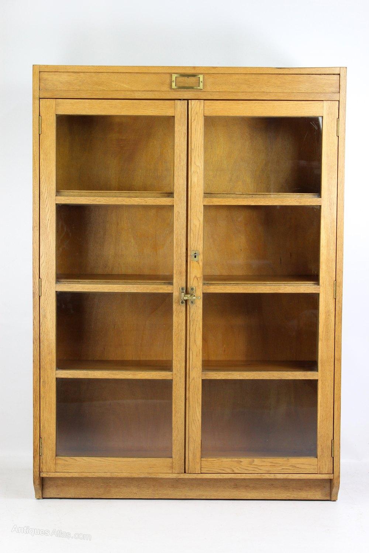 Antiques Atlas Tall Vintage Mid Century Oak Bookcase