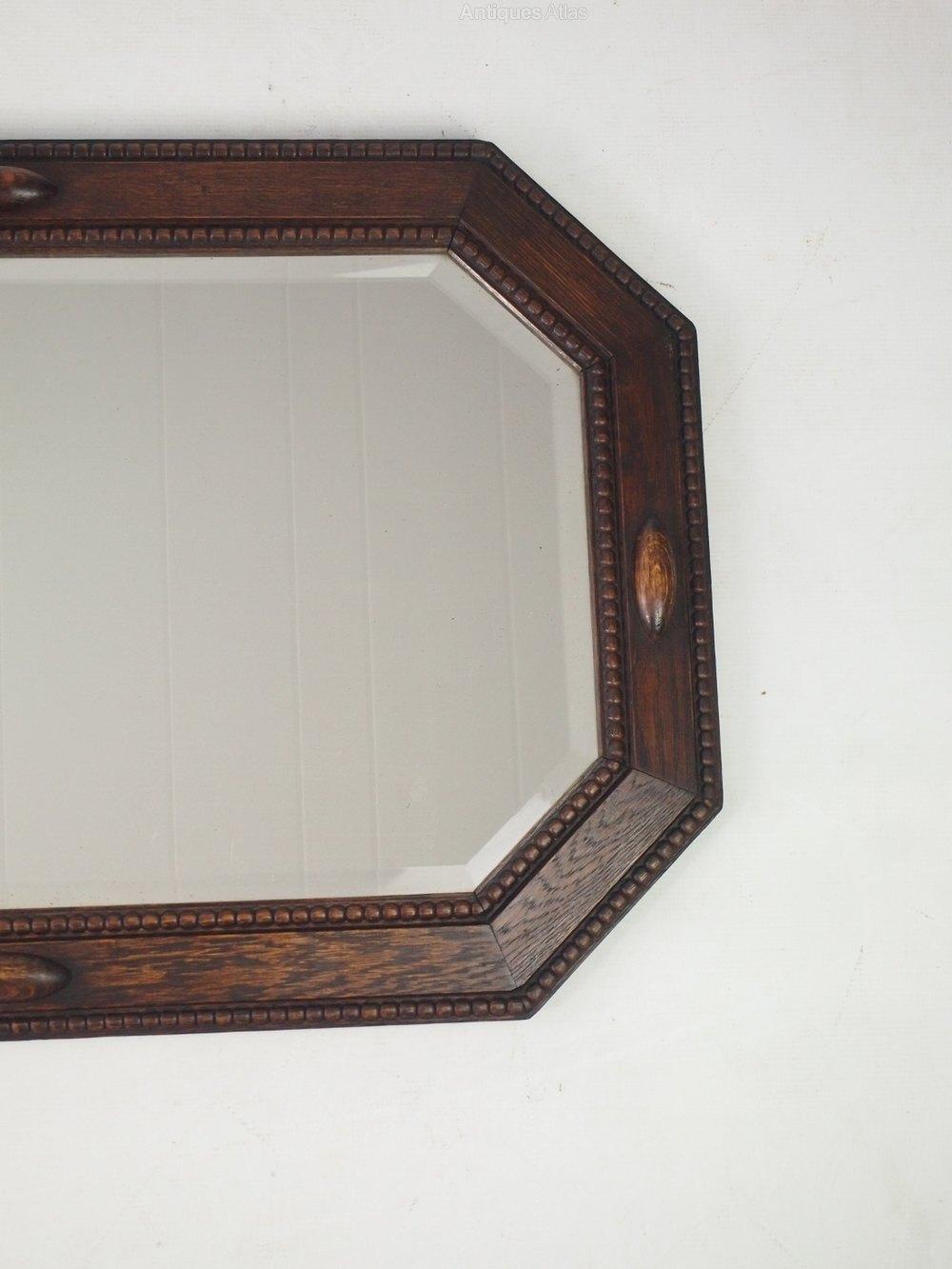 Antiques Atlas - Vintage Oak Framed Mirror Or Overmantle