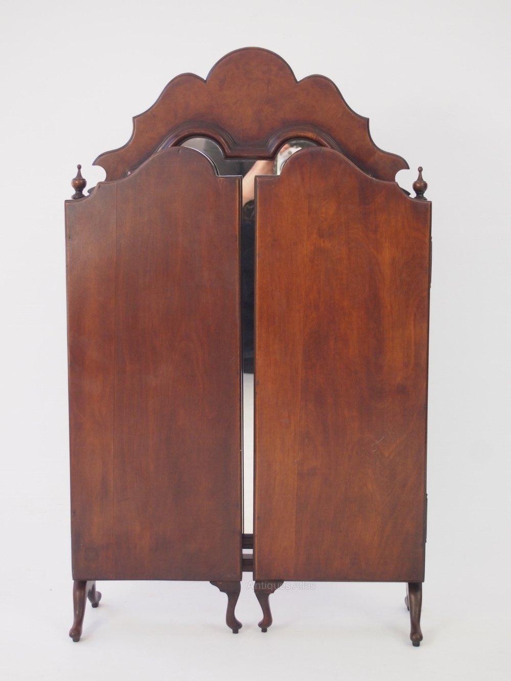 Antiques Atlas Walnut Triple Folding Dressing Table Mirror