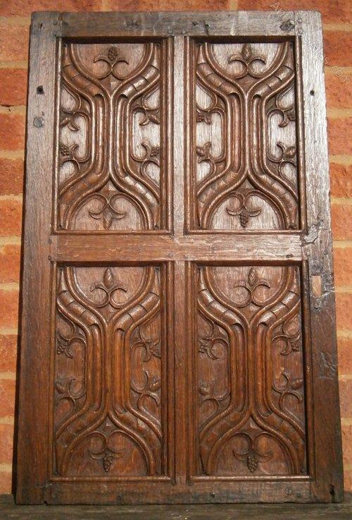 Antiques Atlas 16th Century Carved Oak Parchemin Panels X 4