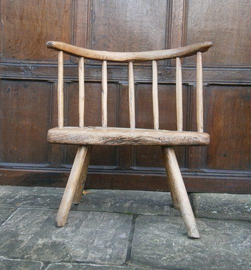 Wonderful 18th Century Primitive Stick Chair ...