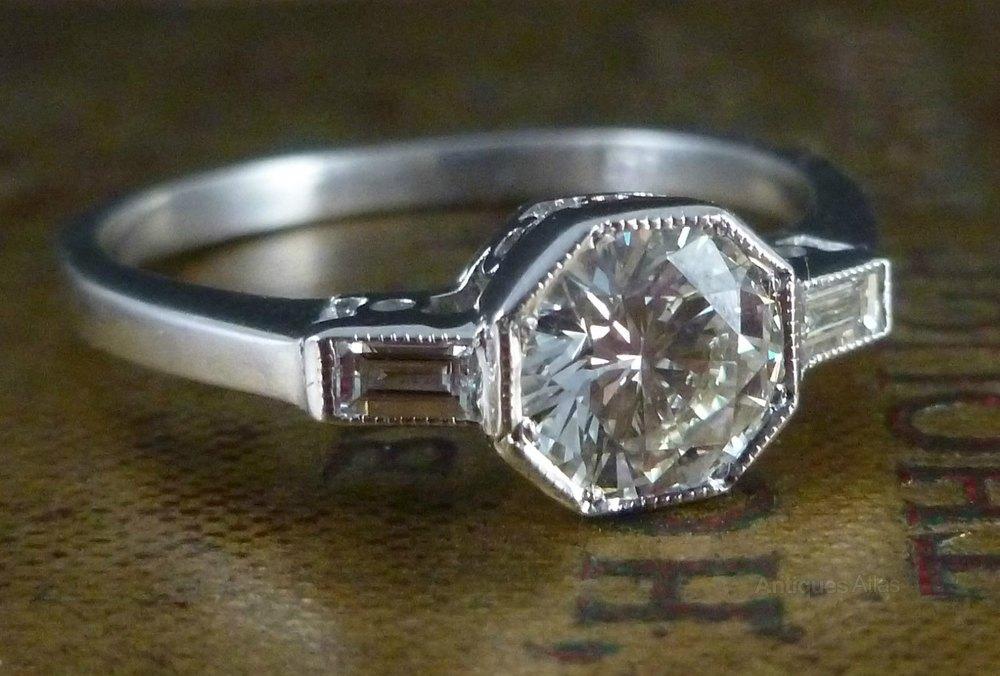Antiques Atlas Antique Art Deco Hexagonal Cut Diamond Ring