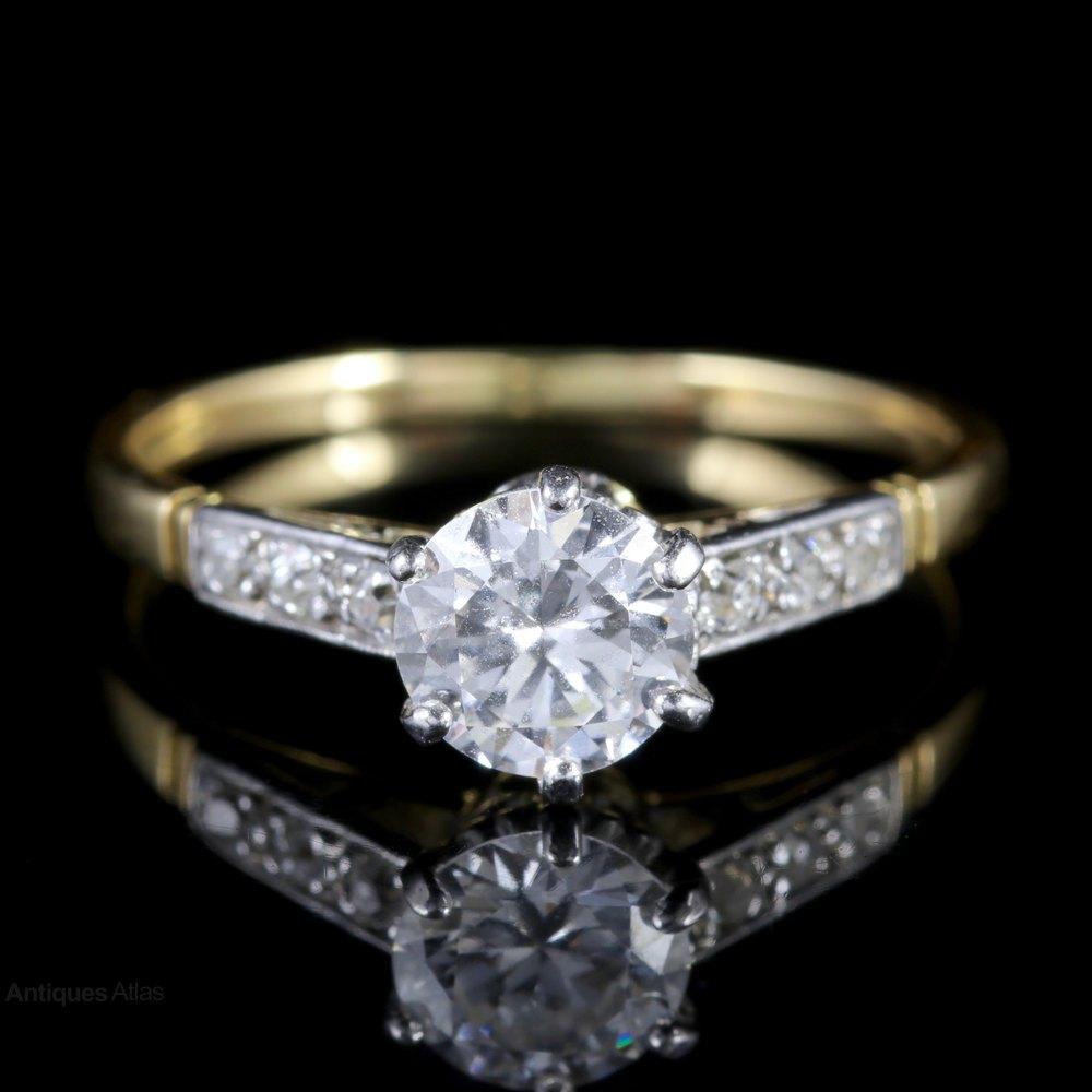 Antiques Atlas Antique Edwardian Diamond Engagement Ring
