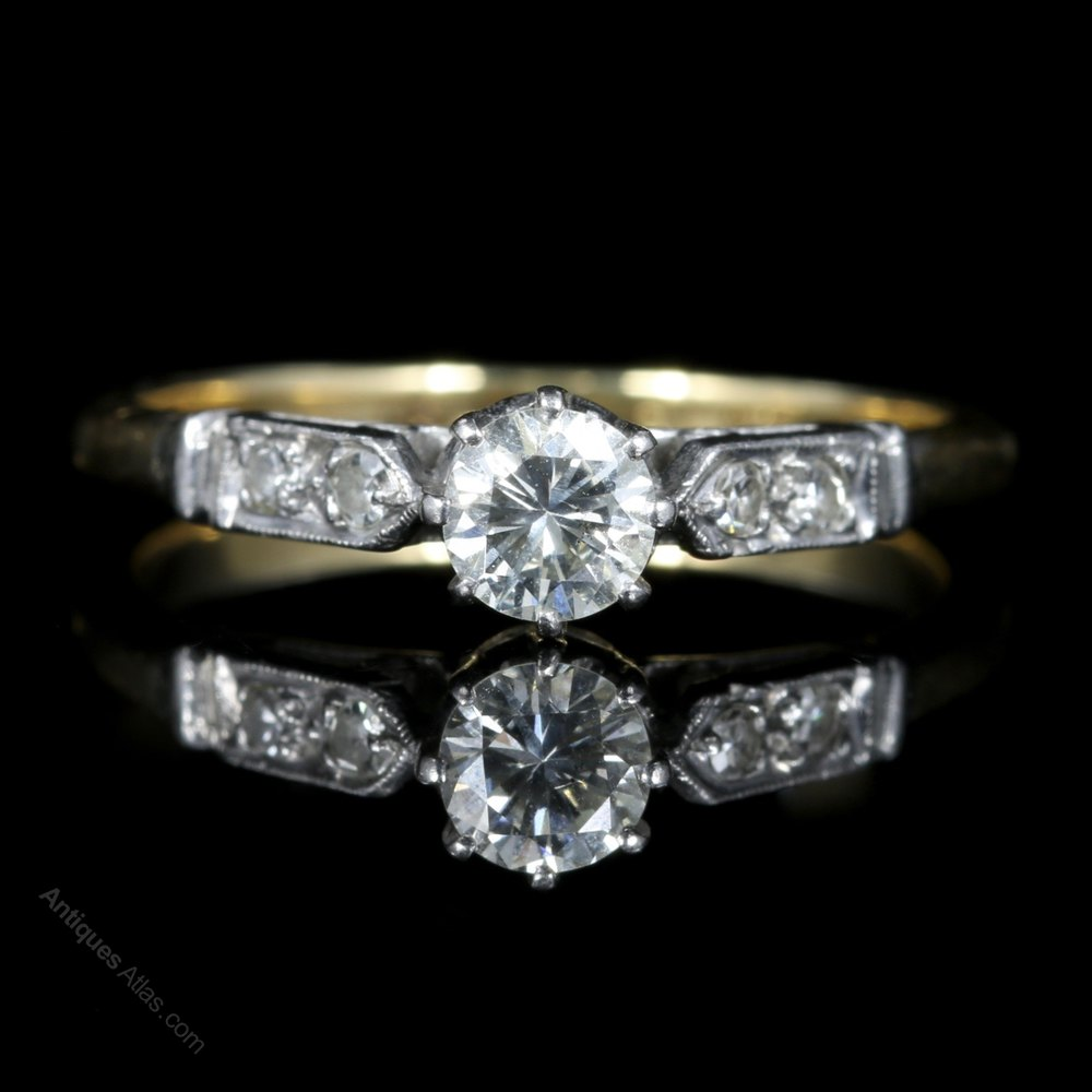 Antiques Atlas Antique Edwardian Diamond Solitaire