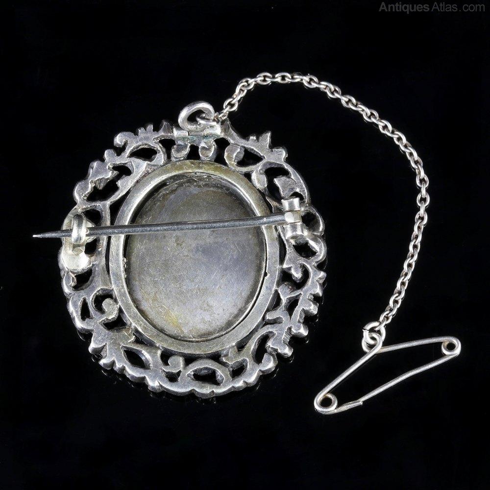 Antiques Atlas Antique Georgian Brooch Silver Paste Stones