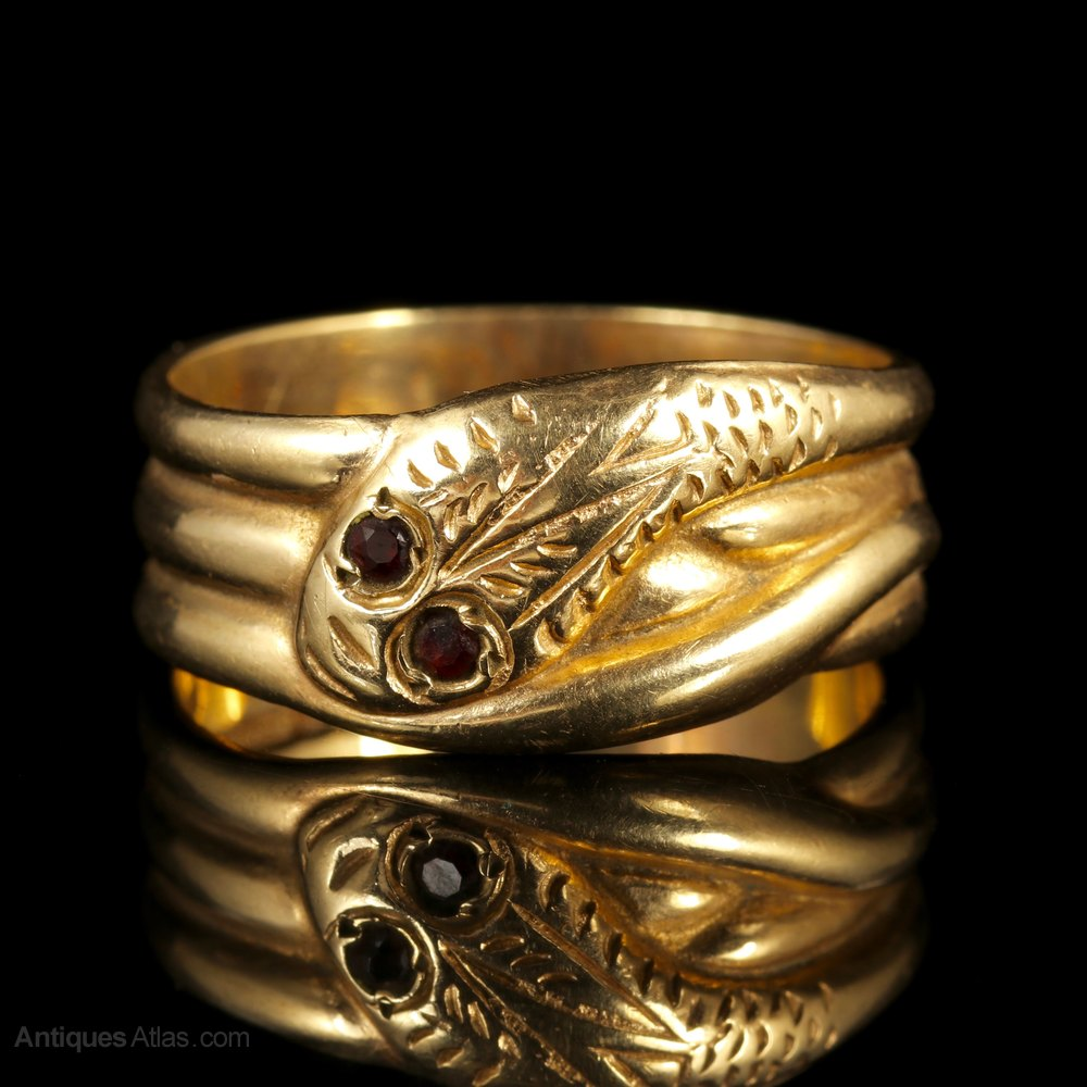 antiques atlas antique snake ring garnet