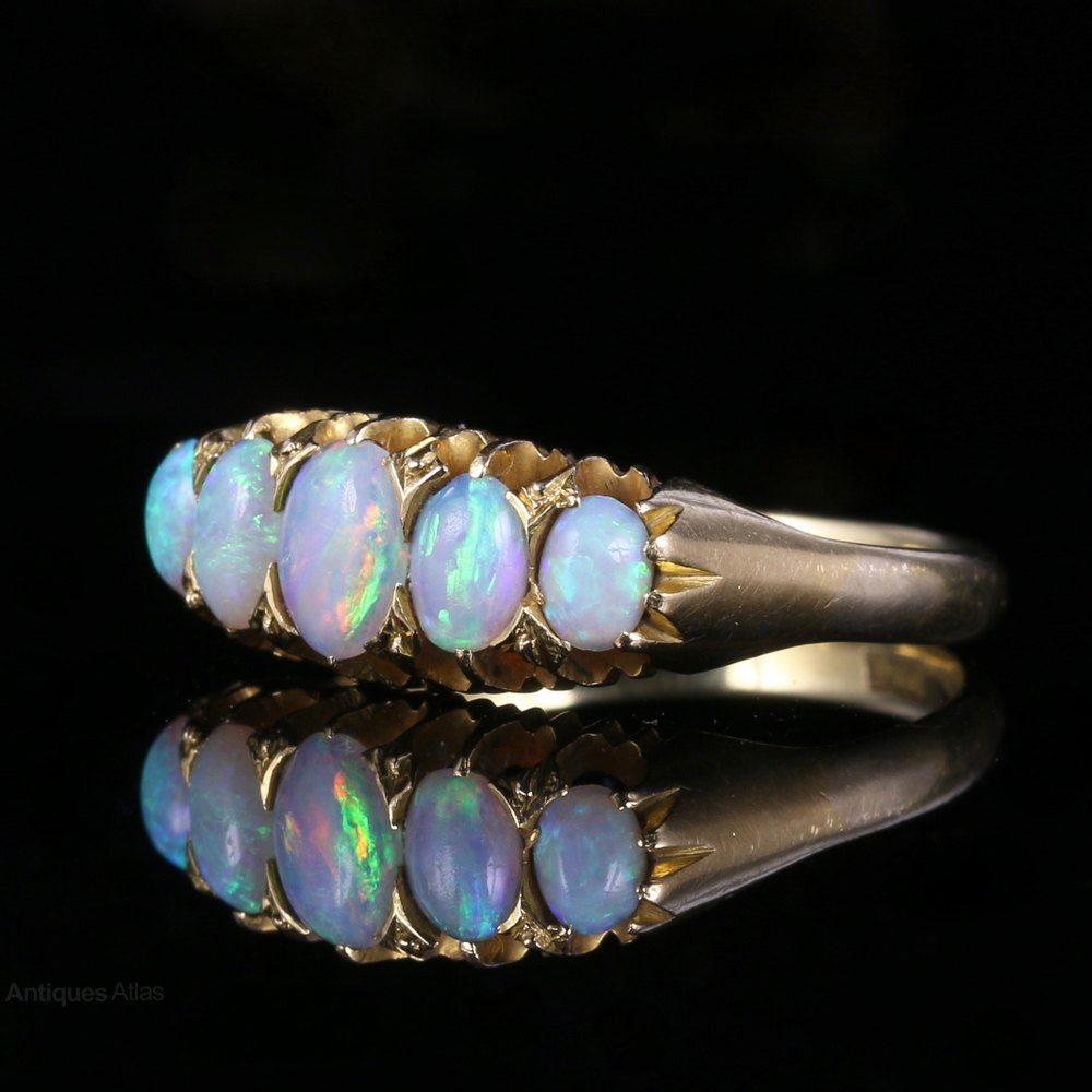 antiques atlas antique opal ring 5 18ct gold