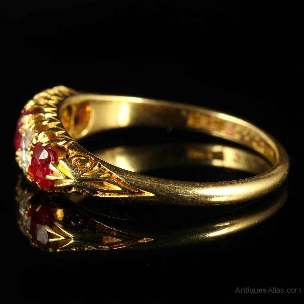 Victorian Rings Diamonds And Rubies