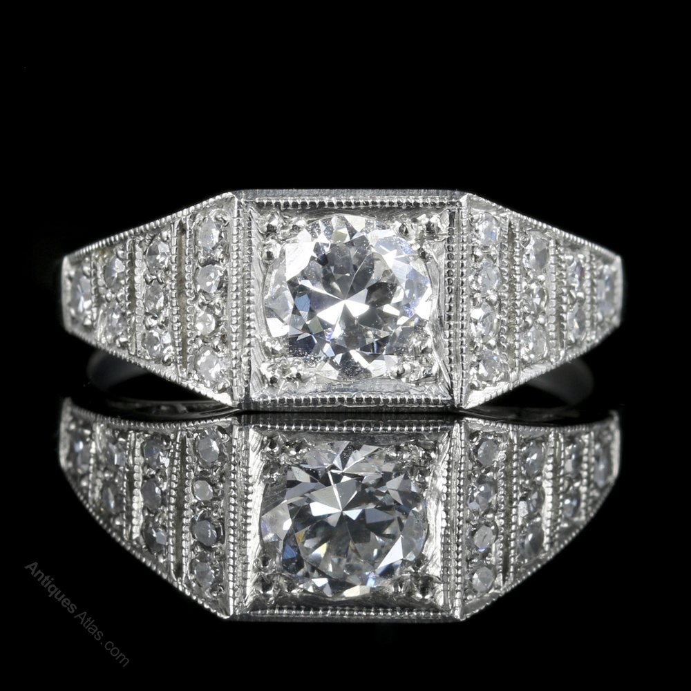 Art Deco Engagement Rings For Sale