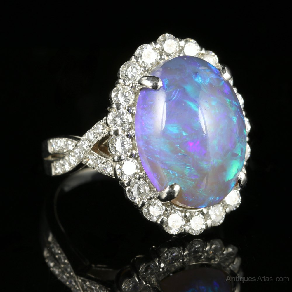 Opal Wedding Ring Sets