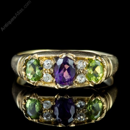 272d7332a4780 Edwardian Suffragette 18ct Gold Ring Dated 1905