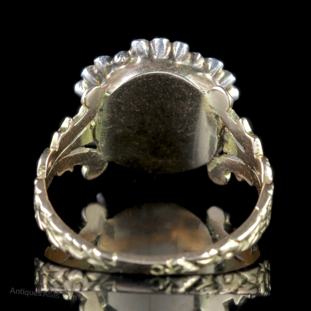diamond antiques georgian ring rings lane engagement cut products openwork butter rose