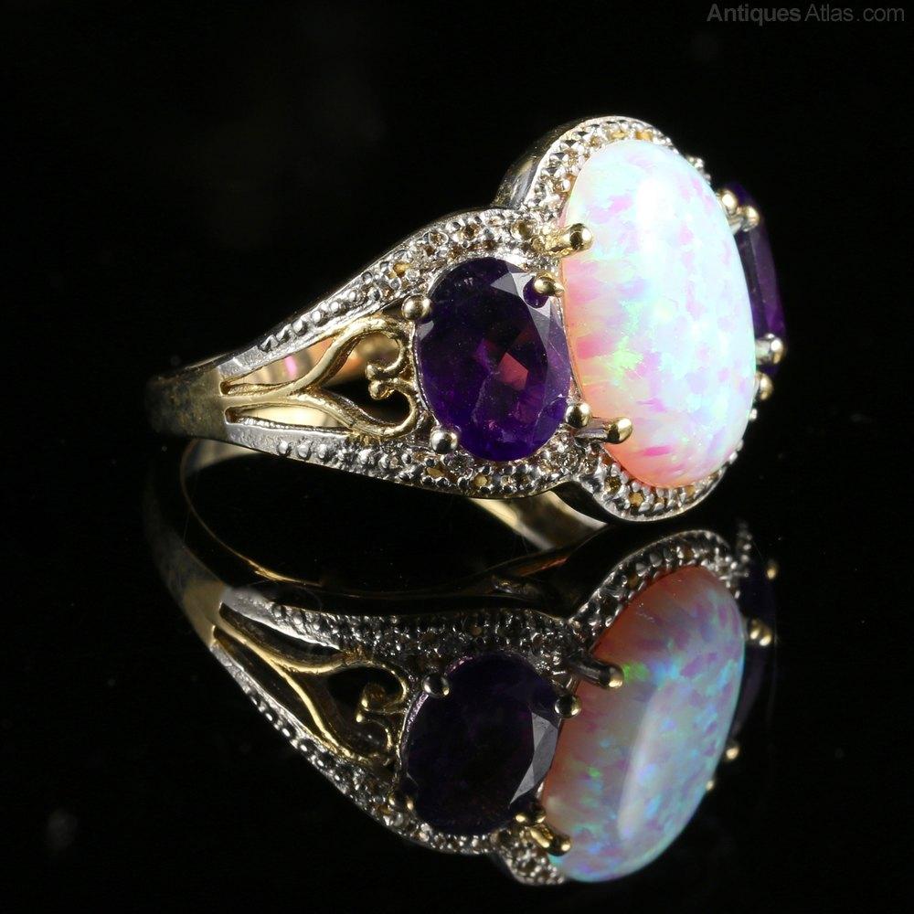Amethyst Wedding Rings 17 Amazing Opal Diamond Amethyst Ring