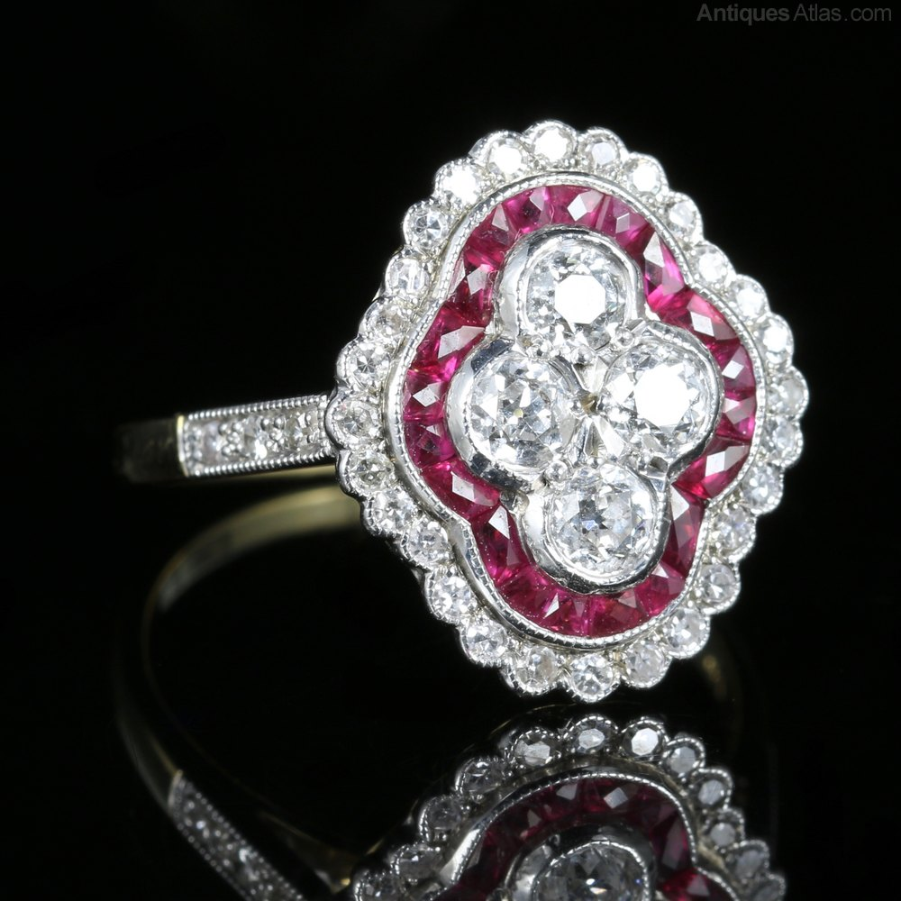 and engagement rings diamond antique ruby ring