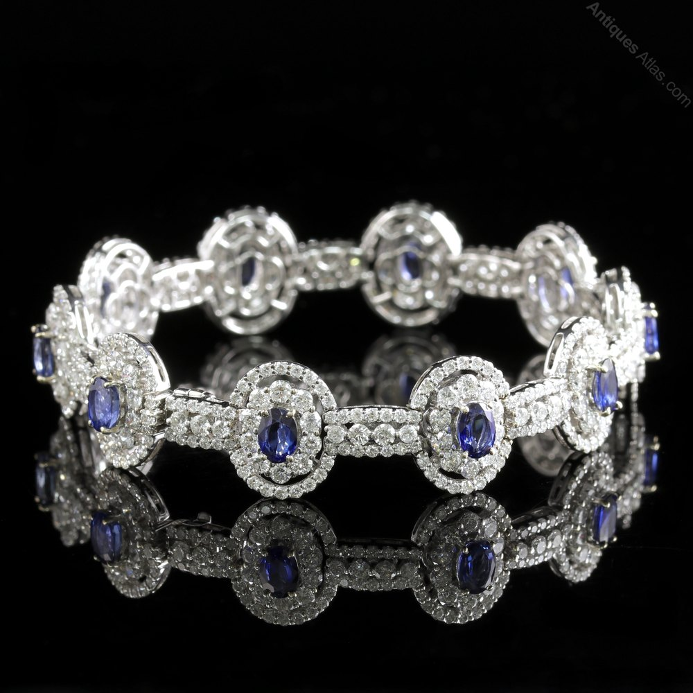 white bracelet round diamond image sapphire gold oval pink in and
