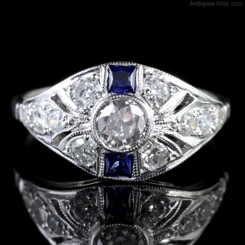Wedding Ring With Sapphires And Diamonds 90 Trend Sapphire Diamond Cluster Ring