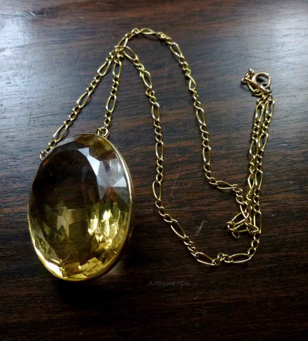 Antiques atlas victorian 55ct large citrine 18ct gold pendant victorian 55ct large citrine 18ct gold pendant antique pendants aloadofball Choice Image