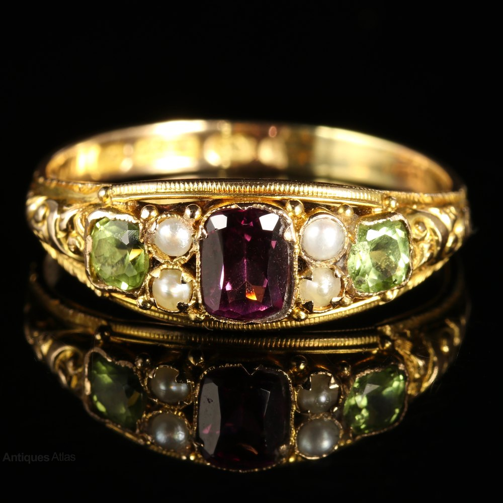 Antiques Atlas Victorian Suffragette Ring Amethyst Pearl