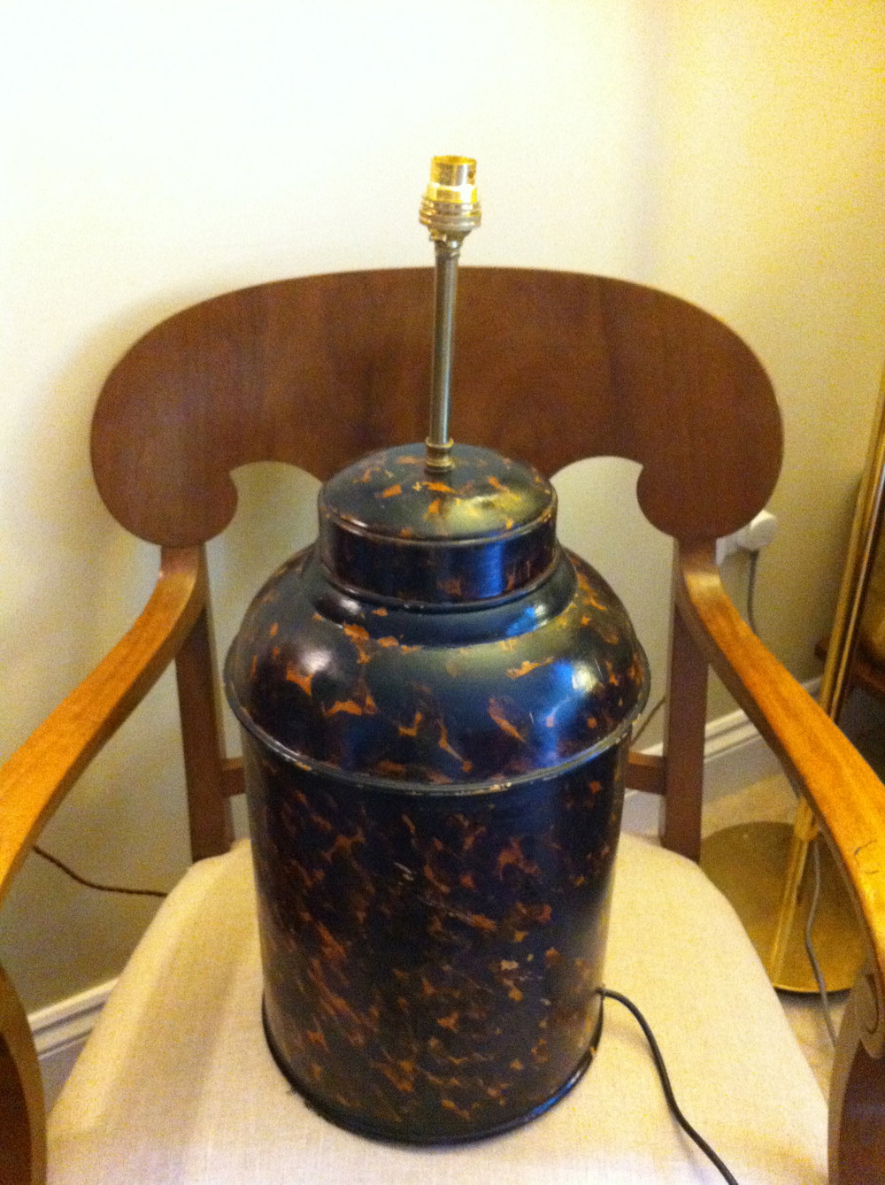 Antiques Atlas Antique Large Tea Canister Table Lamp