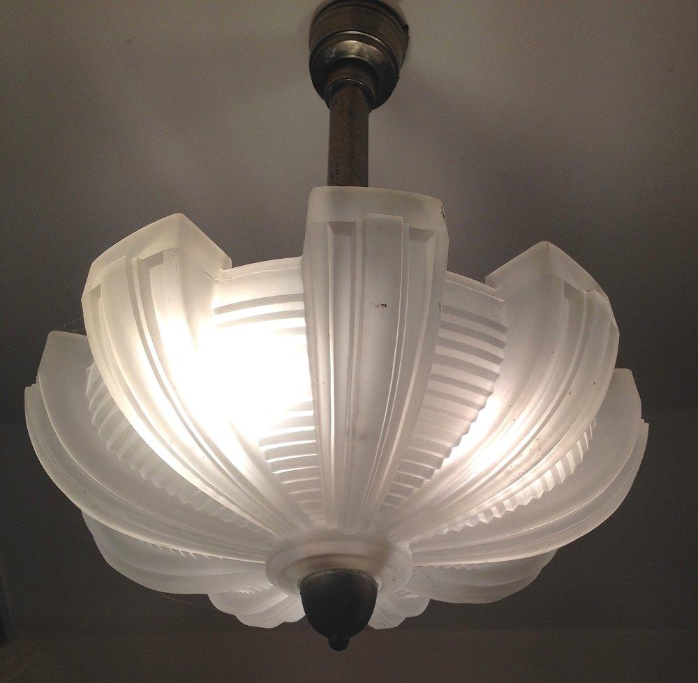 Antiques Atlas Art Deco Ceiling Lamp Chrome And Pate De
