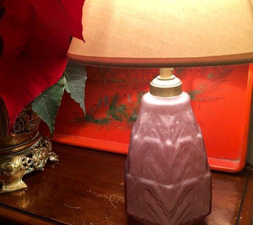 Antiques atlas art deco dressing table lamp frosted glass for Dressing table lamp lighting