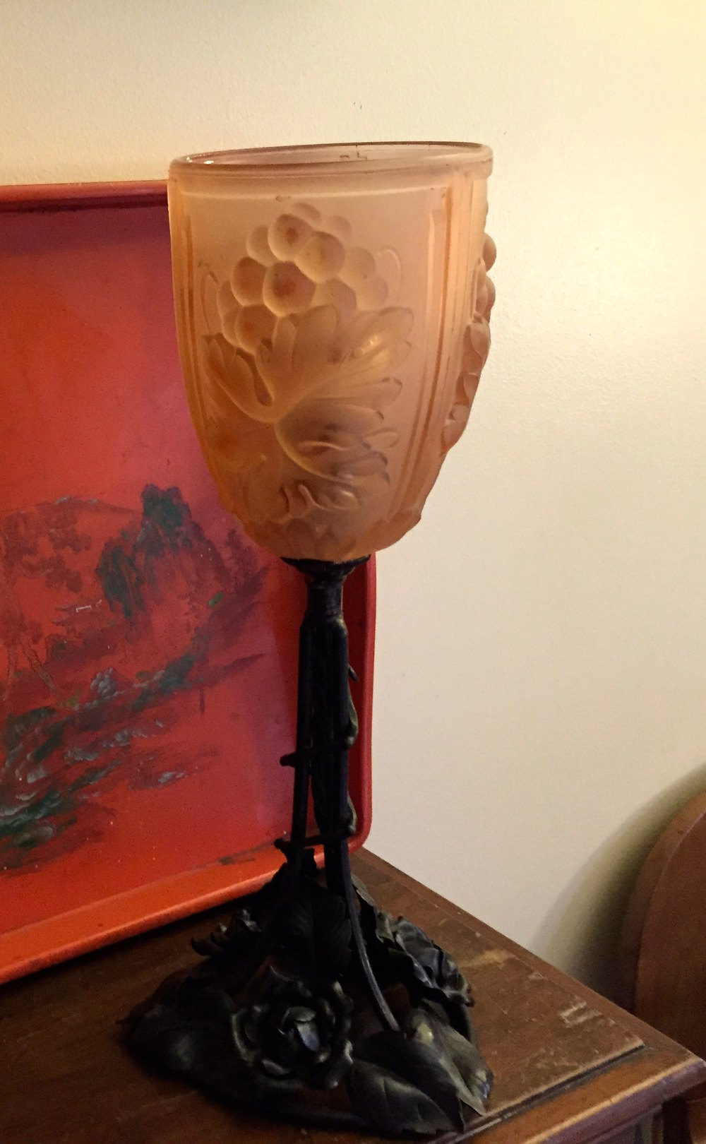 Antiques Atlas Art Deco Table Lamp Wrought Iron And
