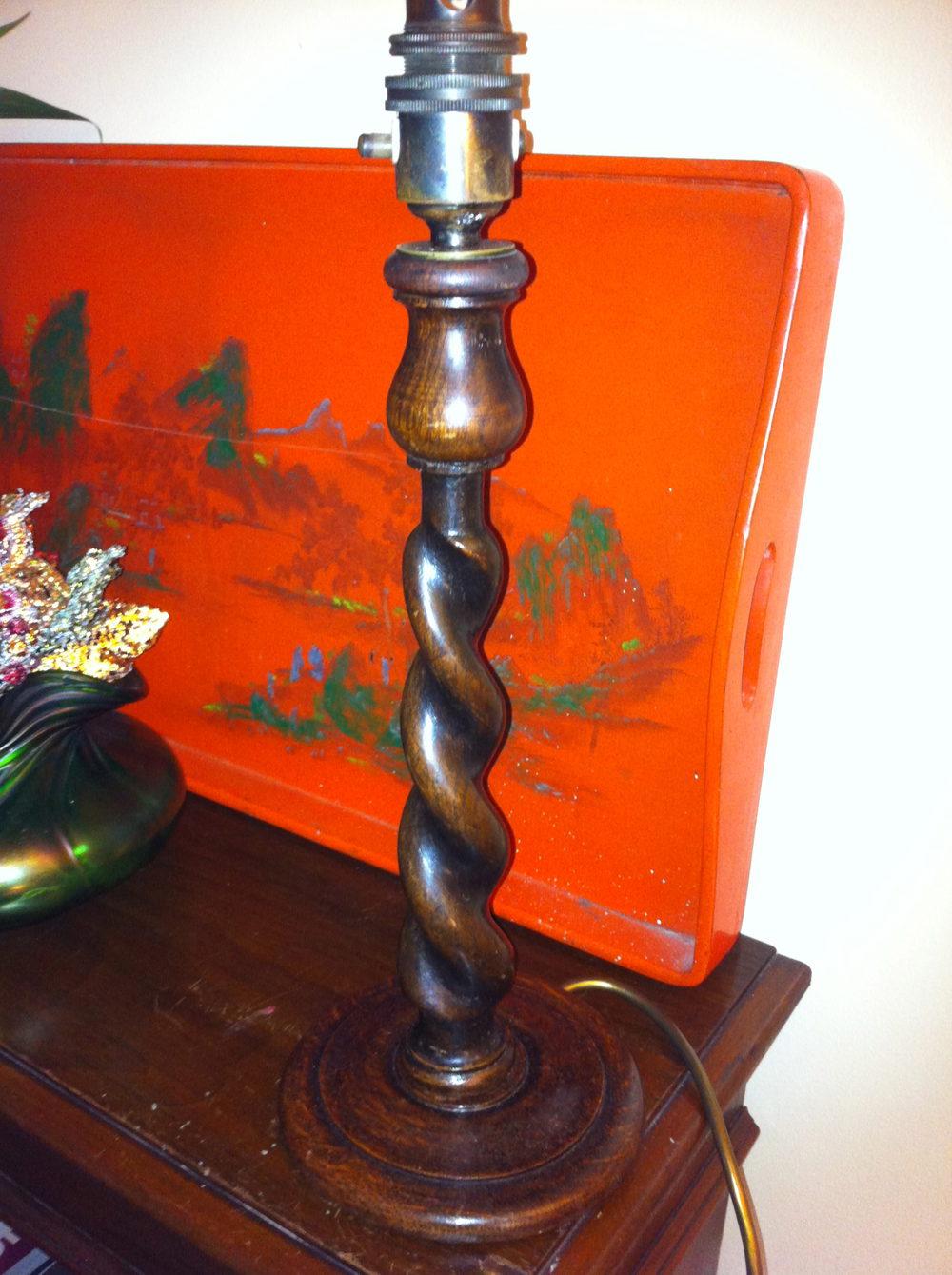 Antiques Atlas Art Deco Barley Twist Oak And Opaline