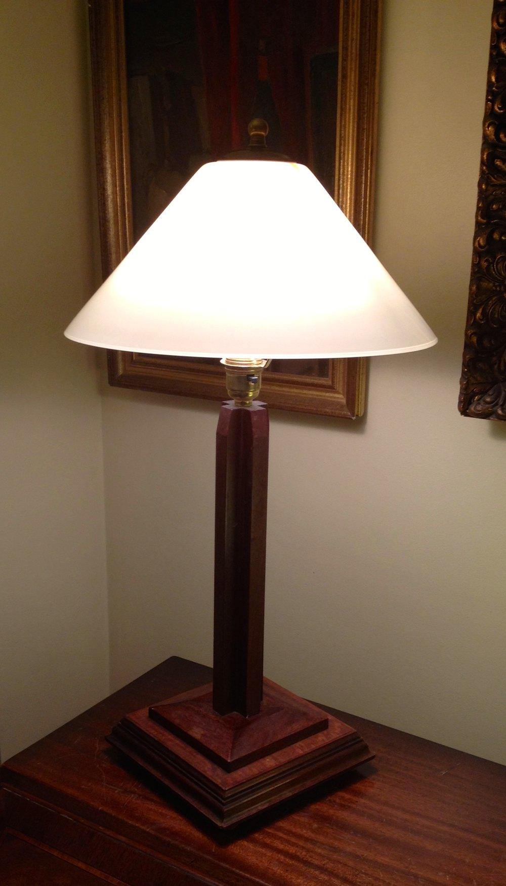 Antiques atlas classic art deco desk or console lamp mahogany table lamps alt5 geotapseo Choice Image