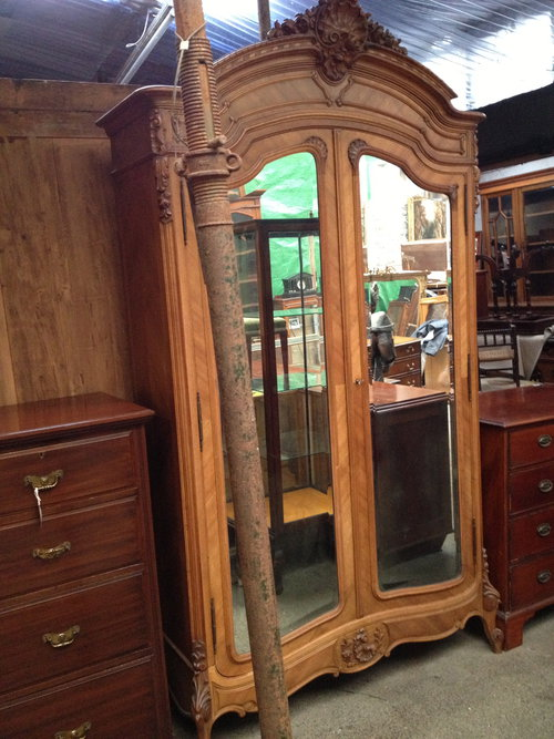 french armoire louis xv style in walnut antiques atlas. Black Bedroom Furniture Sets. Home Design Ideas